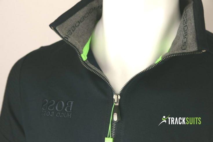 black and green hugo boss tracksuit
