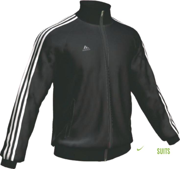 patio de recreo Desilusión gene  Adidas - Ess 3S Pes Op Mens Tracksuit Jacket In Black,White | Track Suits