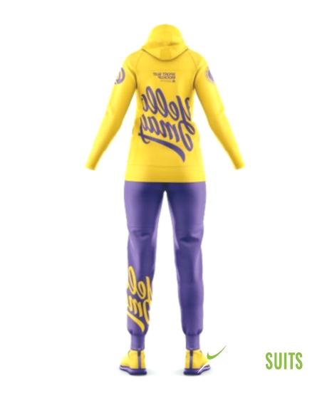 Women's Sport Suit Mockup – Back View   Track Suits