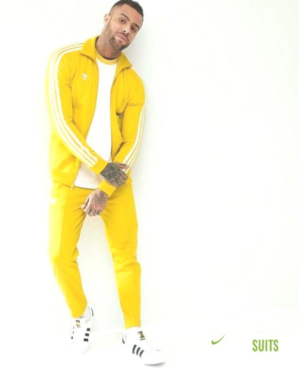 adidas yellow sweat suit
